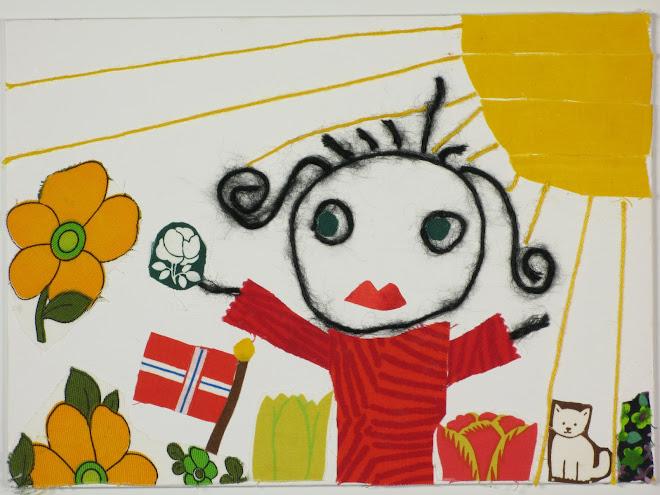 """Från utställningen Garnteckningar 2007: """"Min norska väninna"""" copyright Yvonne Domeij"""