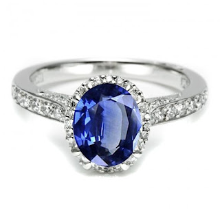 Diamond Ring Oval Sapphire Engagement Rings