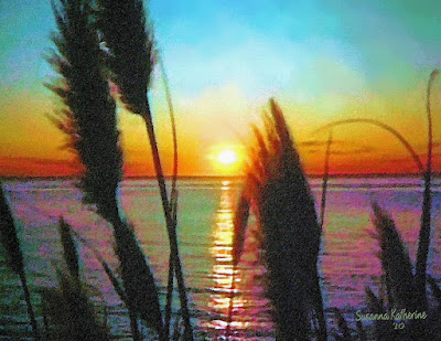 Painting Of Sunset On The Ocean. Posted by Susanna Katherine at 3:41 AM