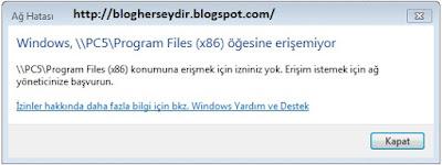 Windows 7  ve Windows XP'de Sorunsuz Dosya paylaşımı