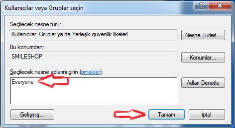 Windows 7 paylaşım acma