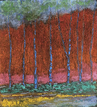 Red Behind Trees