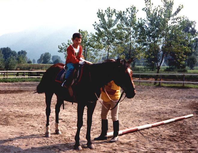 io a cavallo su romina
