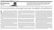 Cerrar puertas a los TRANSGENICOS