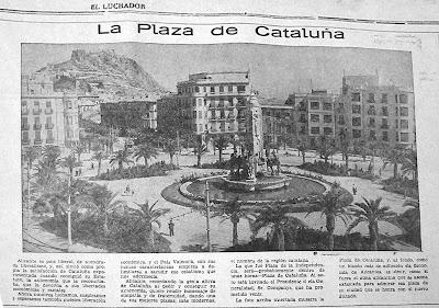 La Plaza de los Luceros, conocida años antes como Plaza de Cataluña