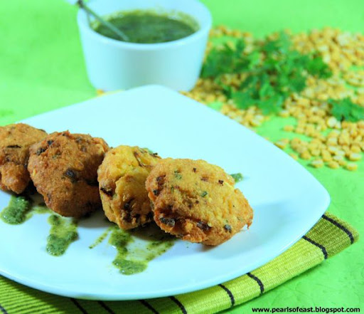 Piyaji is common to Odiya kitchen, it is basically lentils coarsely grinded and flavored with curry leaves, coriander, ginger and  onions