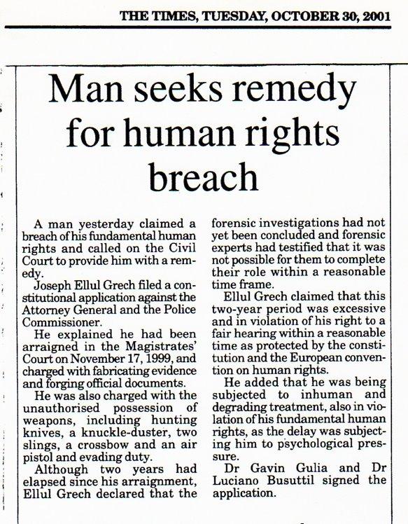 John Dalli's Victim Seeks Remedy for Breach of Human Right