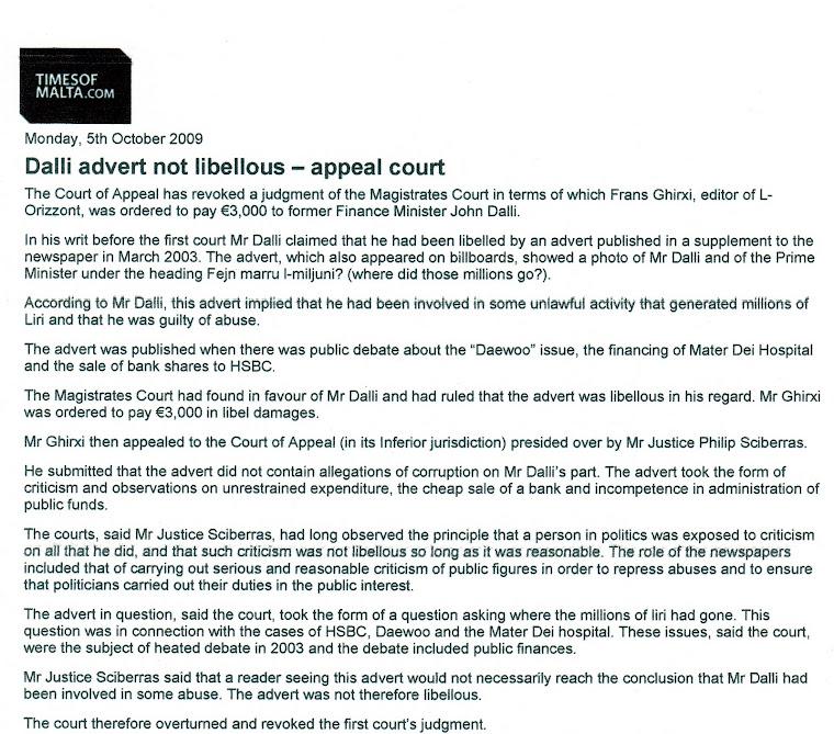 John Dalli Loses Court Case