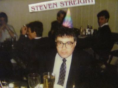 Steven E. Streight birthday at Alexanders Steak House, Peoria, IL