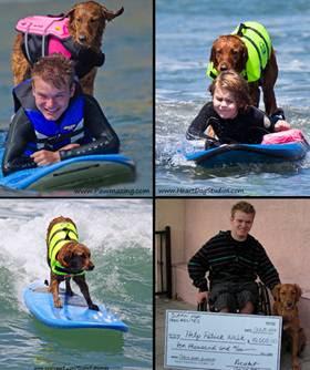 Bark Buckle UP and Christina Selter aka: Pet Safety Lady's dear friend Surf Dog Ricochet