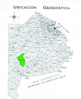 Mapa Partido de Coronel Suárez