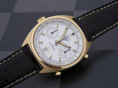 Heuer CARRERA gold 18K CHRONOMATIC (1970'S) Immagine+5039