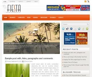 Fiesta Blogger Template