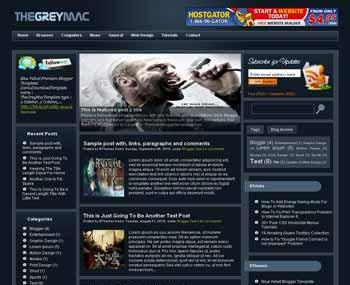 TheGreyMac Blogger Template