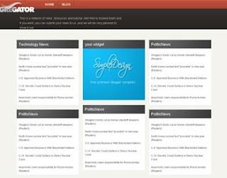 Simplex Aggregator 2 Blogger Template