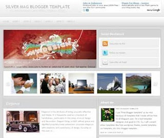 Silver Mag Blogger Template