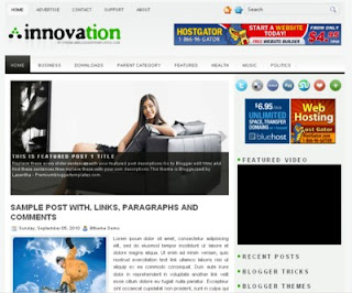 Innovation Blogger Template