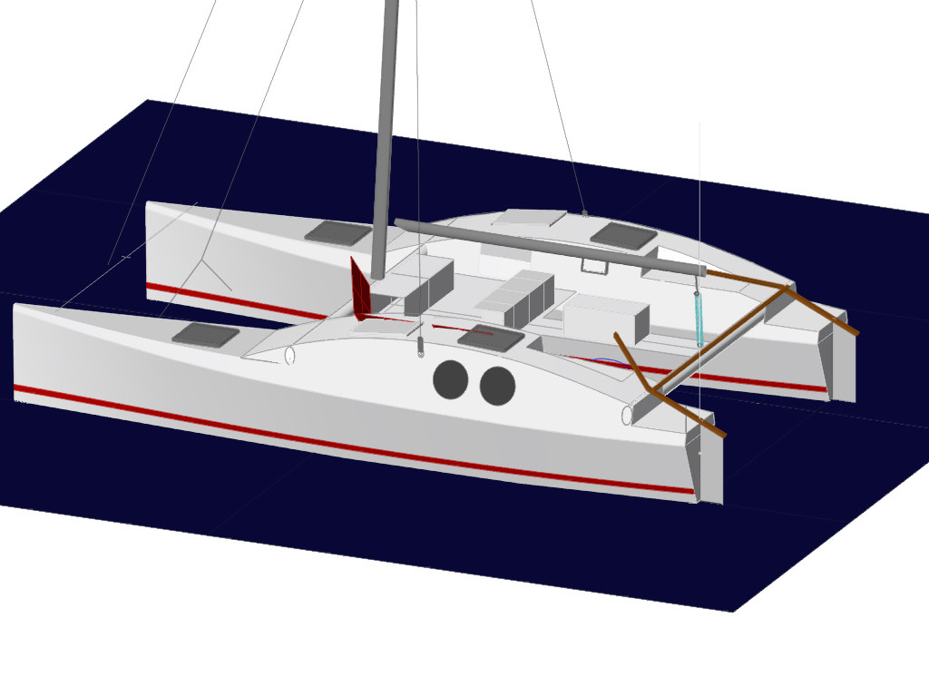 Small catamaran design plans | Plan make easy to build boat