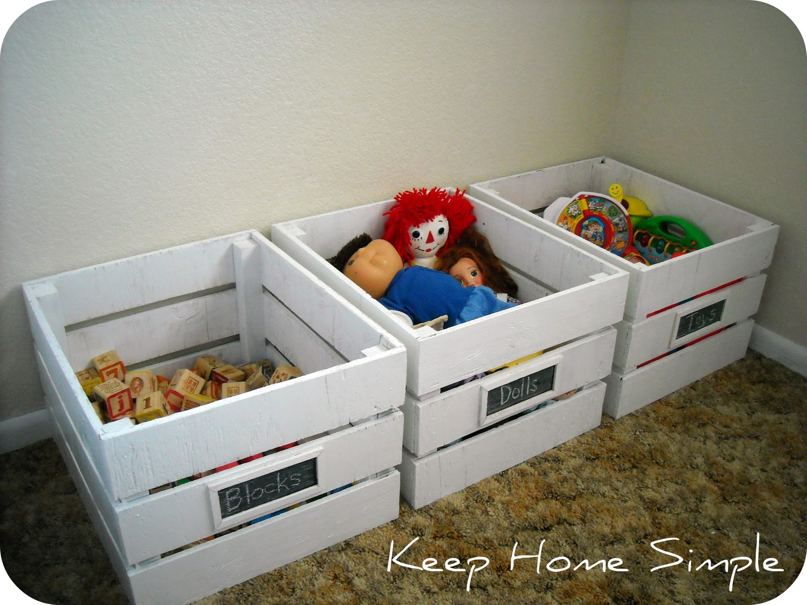 Keep Home Simple Homemade Wooden Crates