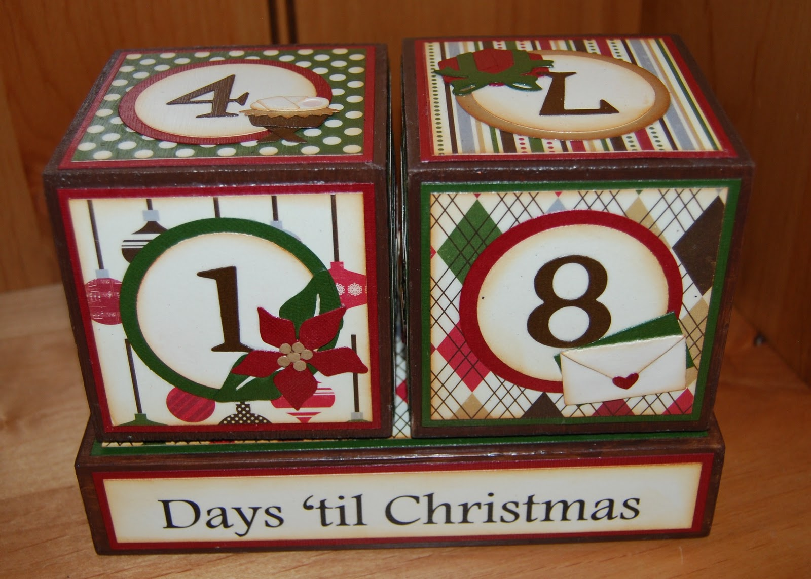 these cute blocks flip every which way to let you know how many days left until christmas