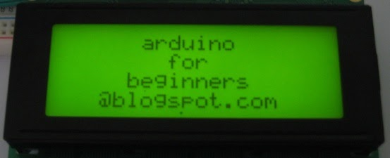 Arduino for beginners output lcd modules part