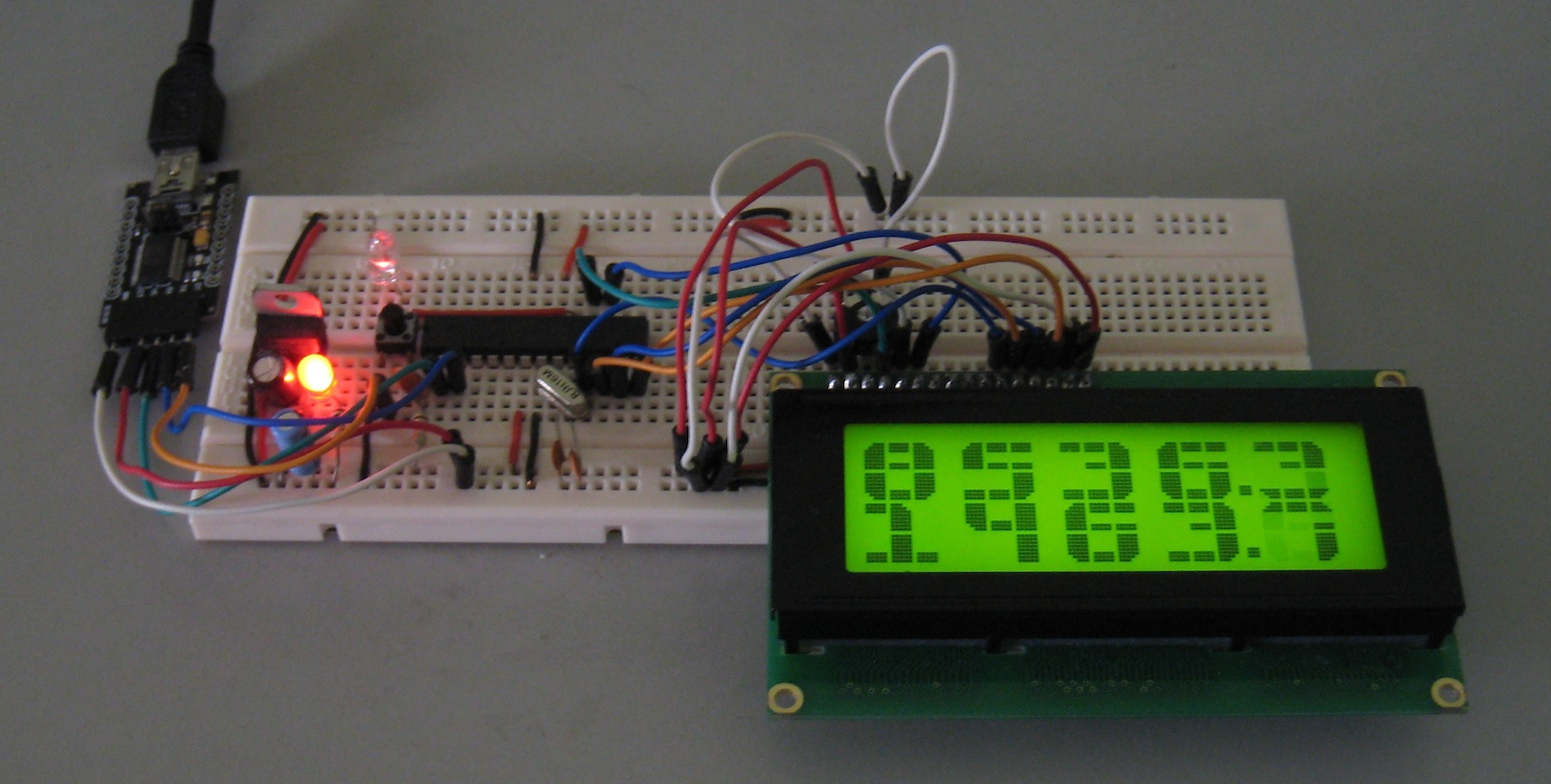 The lcd instead of reading data from the lcd module