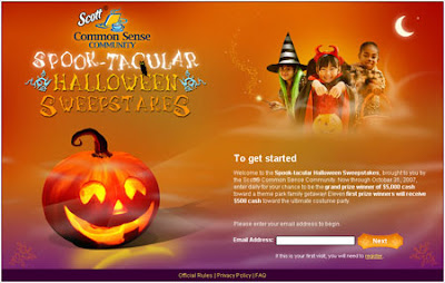 Scott® Common Sense Community Spook-tacular Halloween Sweepstakes