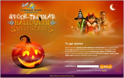 Scott® Common Sense Community Spook-tacular Halloween Sweepstakes