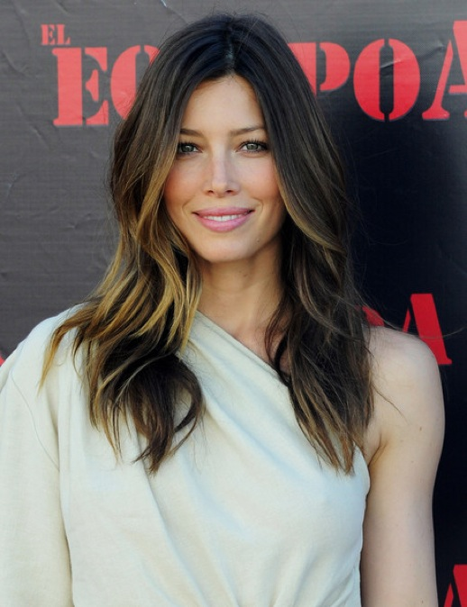 jessica alba ombre hair. Then, Jessica Biel has spotted