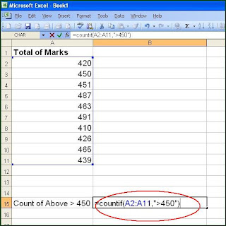 excel sumif,countif functions
