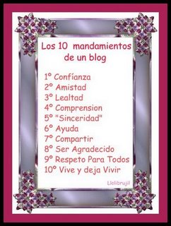 Los 10 Mandamientos Del Blog