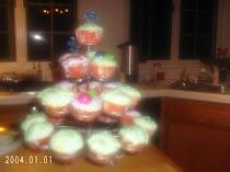 Magnolia Vanilla cupcakes