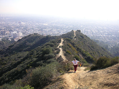 Here is some of the view from the hike going up Runyon Canyon.
