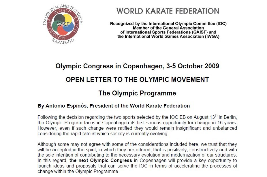 Shiramizu japan karate dojo world karate federation president shiramizu japan karate dojo world karate federation president letter re olympics altavistaventures Gallery
