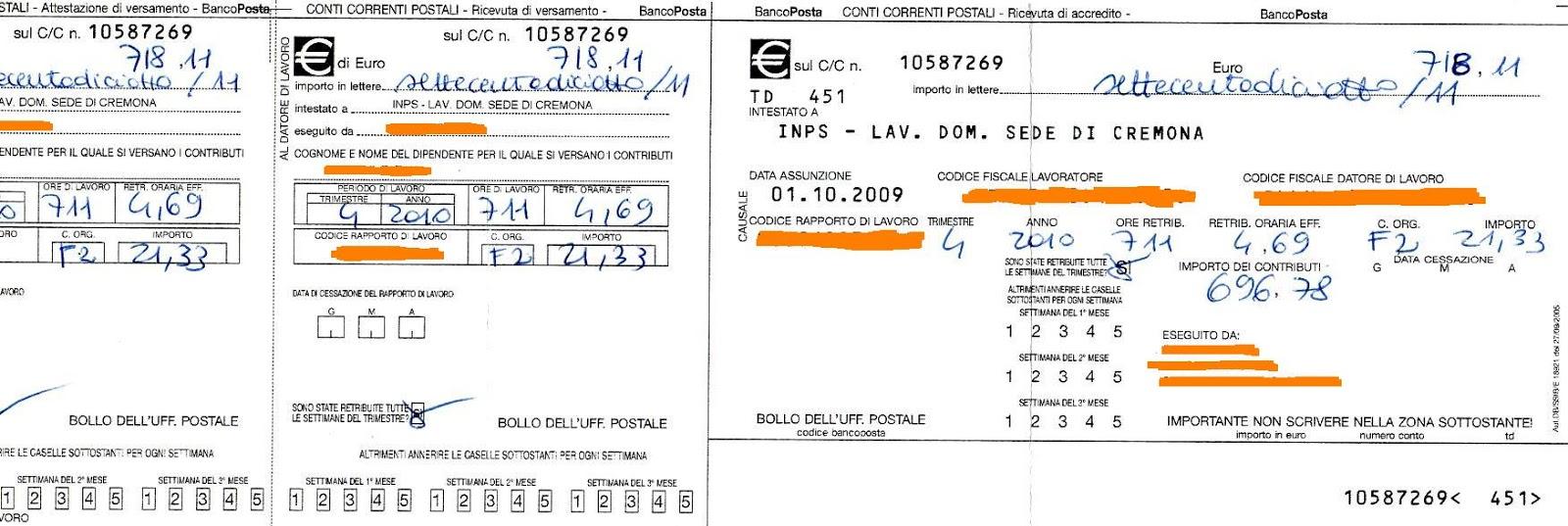 Contratto badanti il bollettino inps for Permessi di soggiorno per lavoro