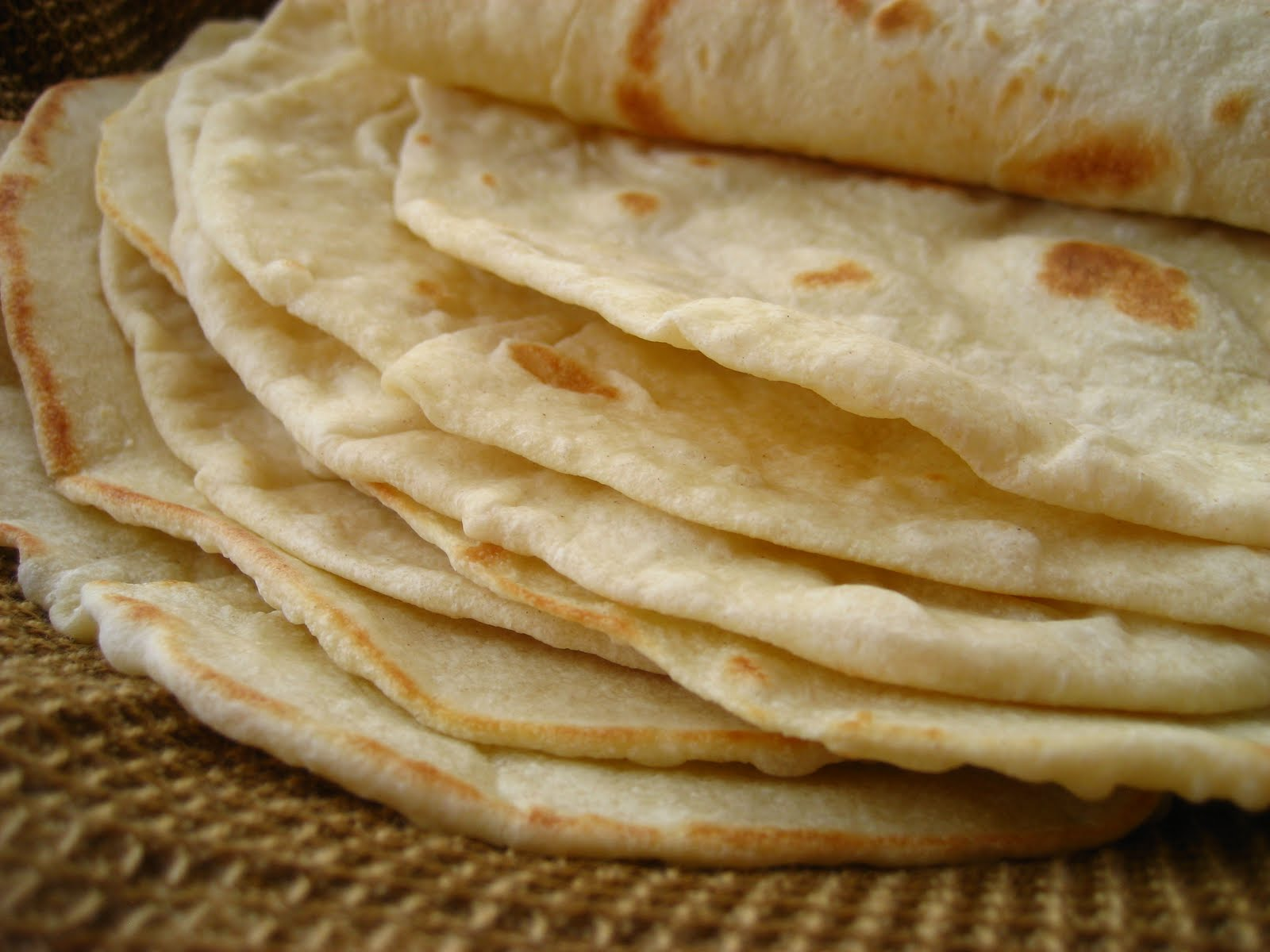 Flour Tortillas with leavening...the best I've had.