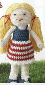 "American Girl 18"" Doll Crochet Clothing Patterns fits American"