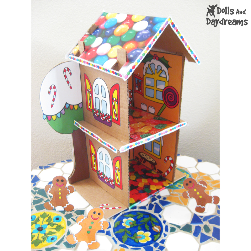 Dolls and daydreams doll and softie pdf sewing for Gingerbread house themes
