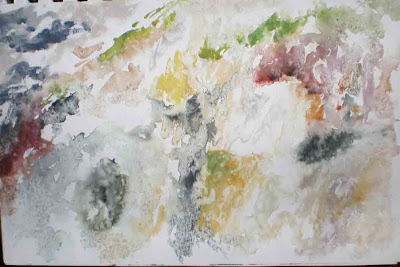 gorge, in watercolour, rainwater and riverwater