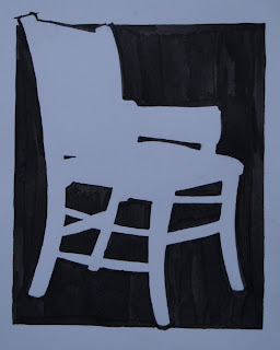 chair, indian ink March 07