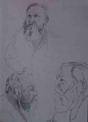 pencil studies of Mike Nov 07