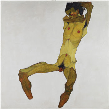 Egon Schiele's Seated Male Nude 1910