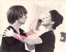 Margot Fonteyn and Rudolph Nureyev in Rehersal