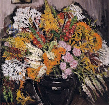 Margaret Preston 'Wild Flowers in a Black Vase' 1943