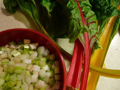 Spring onions and swiss chard from the CSA. Spring onions are my new ...
