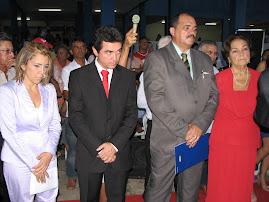Posse da Prefeita Vani e do Vice Luis Paulino logo após a Posse da Câmara