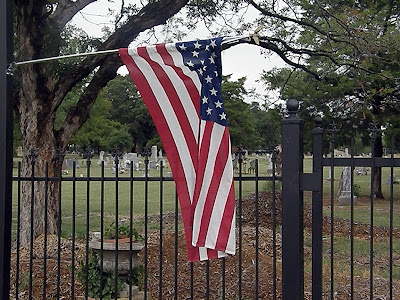 Smithfield Cemetery North Richland Hills TX US Flag South Entrance
