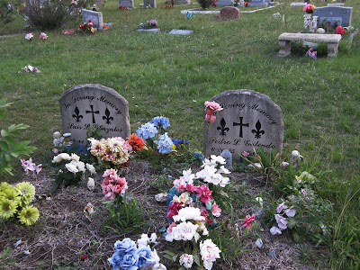 Luis Gonzales and Pedro Galindo tombstones Round Rock Cemetery Texas