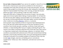 Fosomax Side Effects