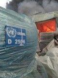 Bombardeo del almacén de alimentos de la ONU